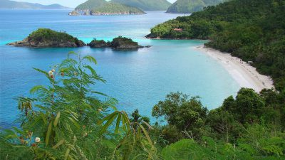 Overlooking Trunk Bay, St. John, Virgin Islands US.